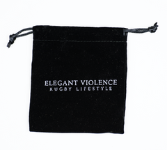 Red Coral w/ Silver Rugby Ball - Elegant Violence Rugby Lifestyle