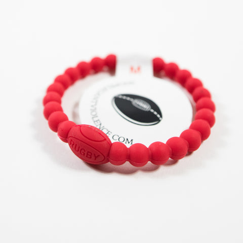 Red Active Rugby Life Bracelet