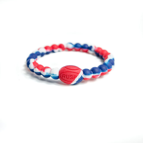 Red, White and Blue Active Rugby Life Bracelet - Elegant Violence Rugby Lifestyle