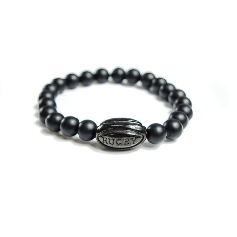 Black Rugby Ball Lifestyle Bracelet