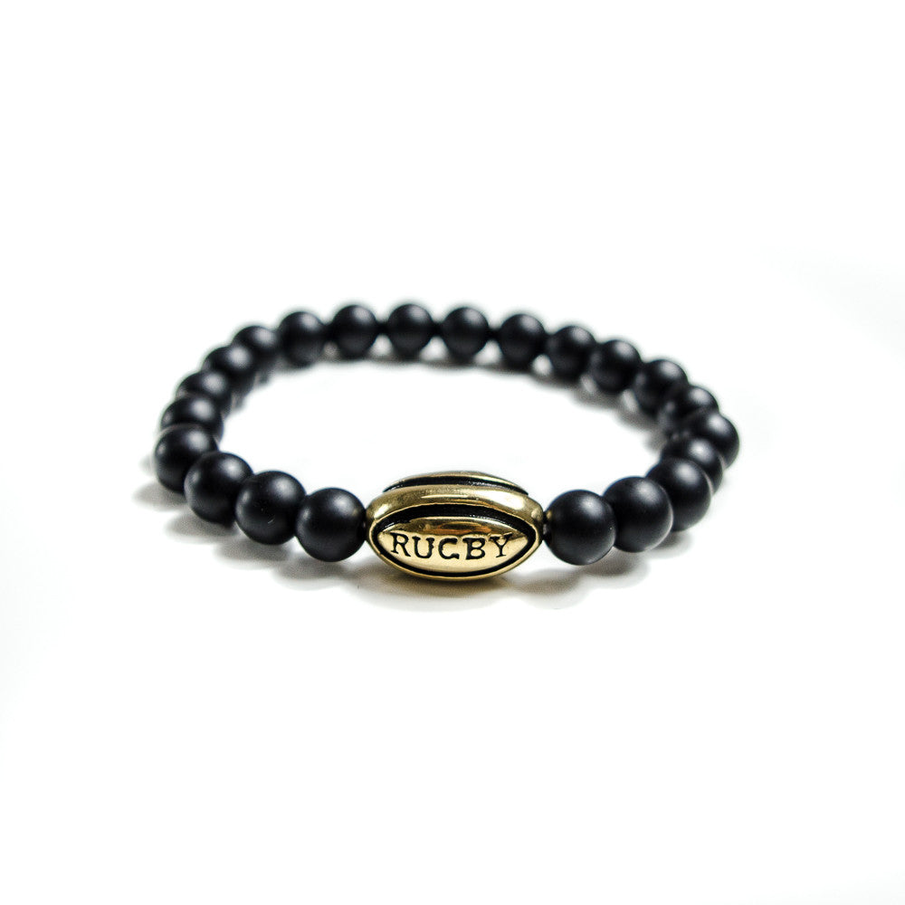 Gold Rugby Ball Lifestyle Bracelet