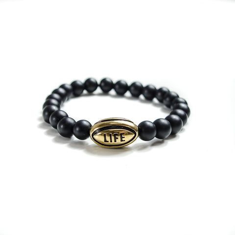 Gold Rugby Ball Lifestyle Bracelet - Elegant Violence Rugby Lifestyle