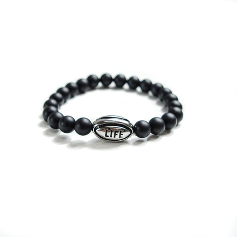 Polished Silver Rugby Ball Lifestyle Bracelet