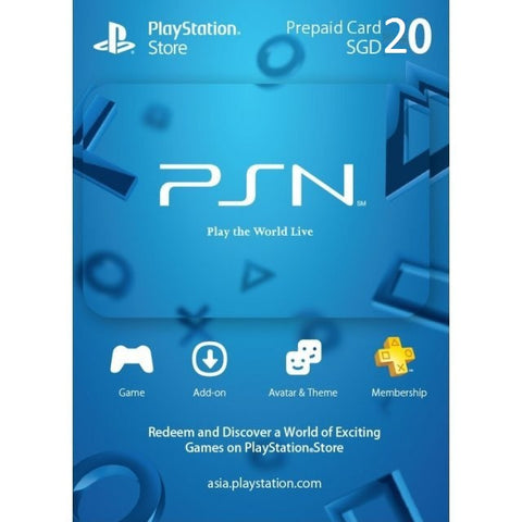 20 SGD PSN Credits [Email Delivery]