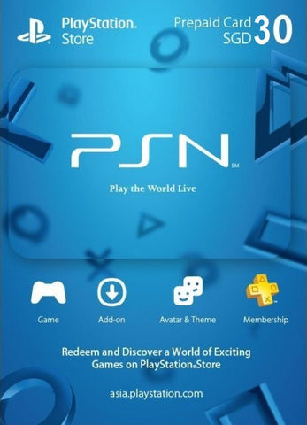 30 SGD PSN Credits [Email Delivery]