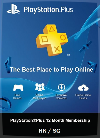 PS Plus 12-Month Subscription - HK and SG
