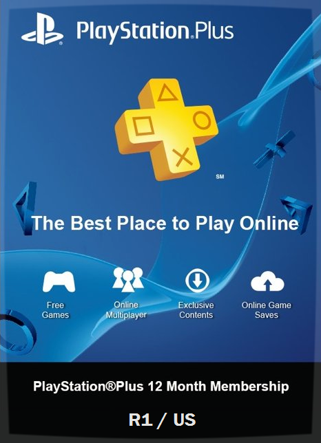 12-month PS Plus - US and R1 - Gaming Mogul Philippines