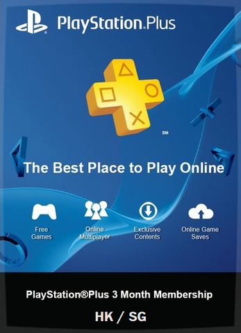 3 Months PS Plus HK / SG - Gaming Mogul Philippines