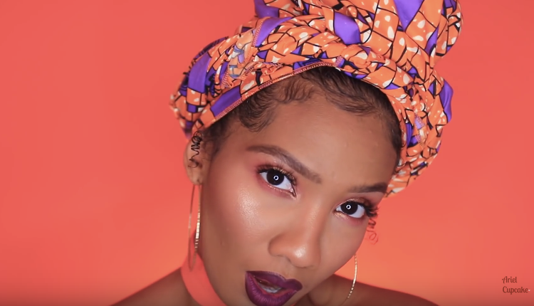 Matching headwrap and makeup looks using Juvia's Place.