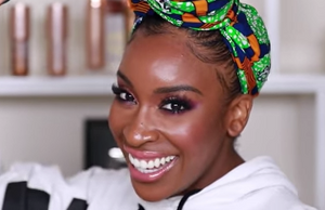 Jackie Aina tests out the Face Halo!