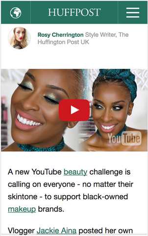Huffington Post and Jackie Aina showcase Adesola Head wrap and choker