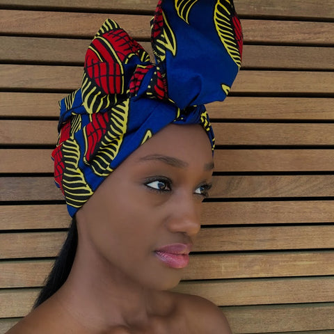 Femi Half Head Wrap -  Accessories > African head wrap > Multicolor headwrap > Ankara wrap > Custom headwraps > African bandeau > Bandeaus > Colorful head wrap > Head wrap for girls > Head wrap for women - Aṣọ Dára