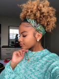 Nosizwe Half Head Wrap -  Accessories > African head wrap > Multicolor headwrap > Ankara wrap > Custom headwraps > African bandeau > Bandeaus > Colorful head wrap > Head wrap for girls > Head wrap for women - Aṣọ Dára