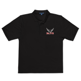 ELITE Team Embroidered Polo Shirt [Black/White]