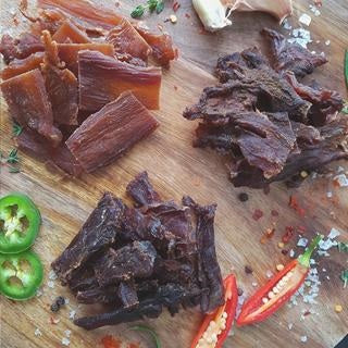 Teriyaki Croc Jerky Salty and Sweet