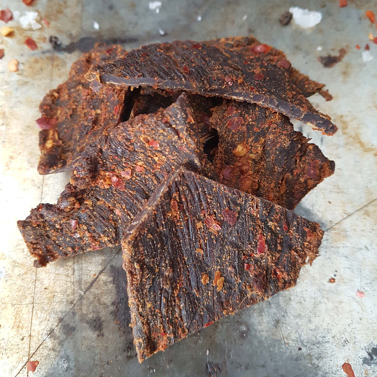 An Intensley Flavoured Spicy Hot Beef Jerky