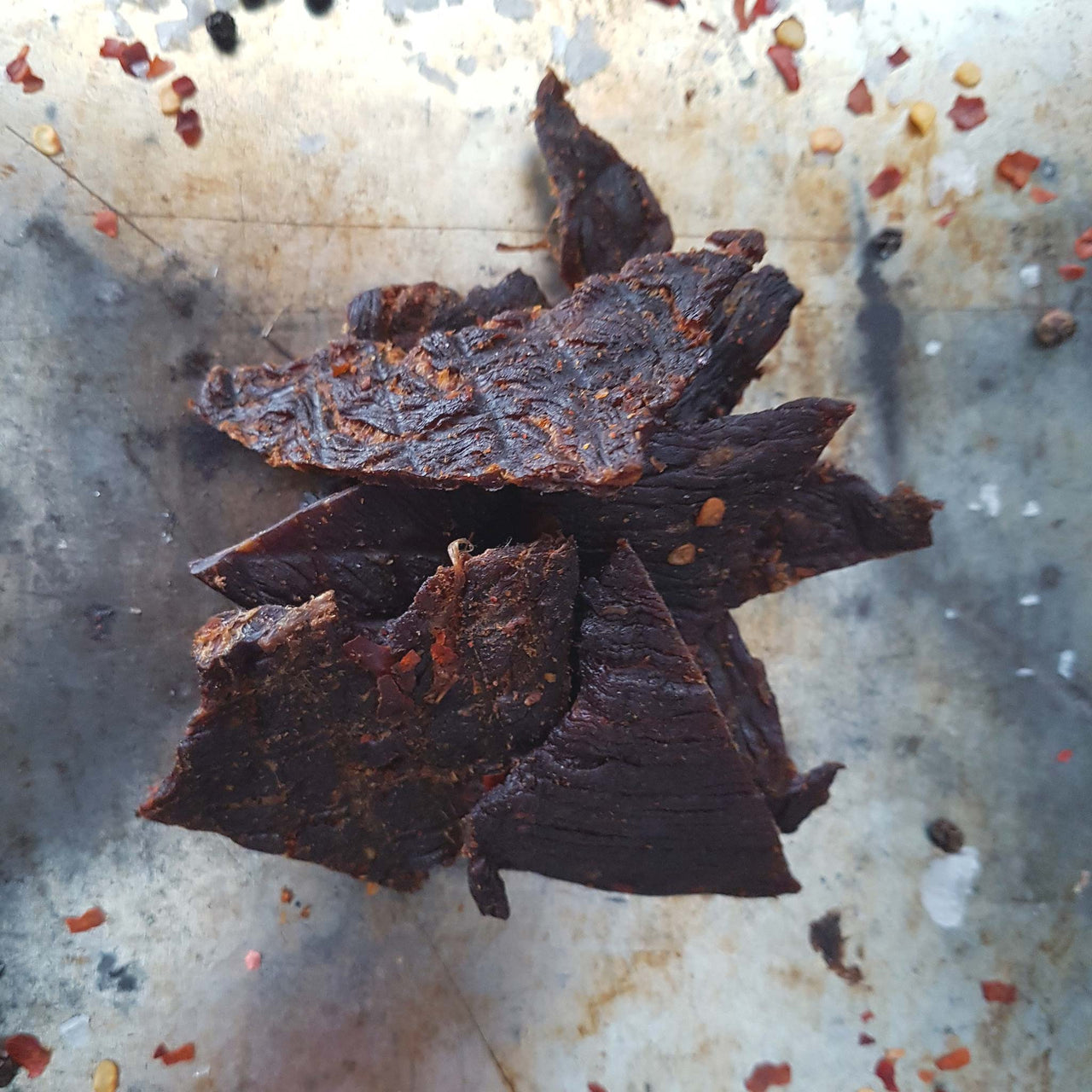 A Mild Spicy Chilli Beef Jerky