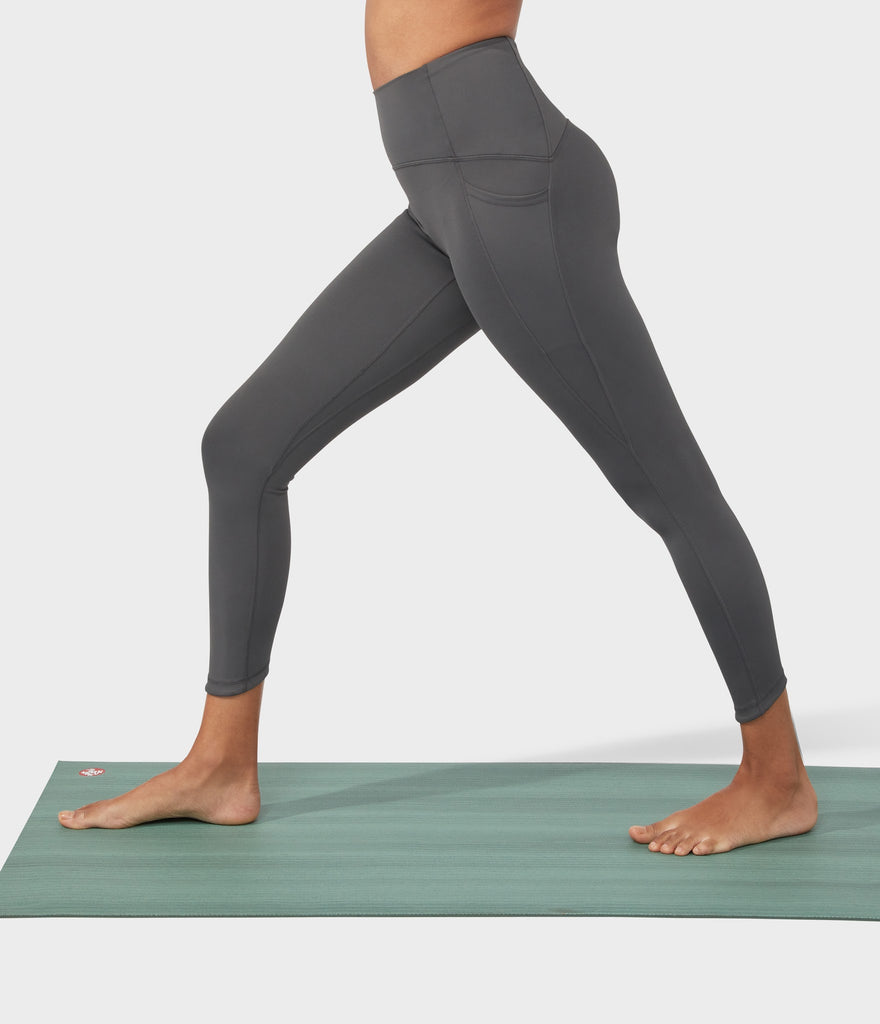 Manduka Apparel - Women's PRO Legging - High Rise 7/8 W/Pocket - New Grey