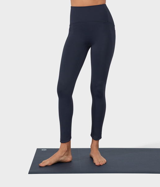 Manduka Apparel - Women's PRO Legging - High Rise 7/8 W/Pocket - Dark Sapphire
