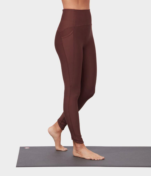 Manduka Apparel - Women's Presence Legging - Deeply Rooted Brown