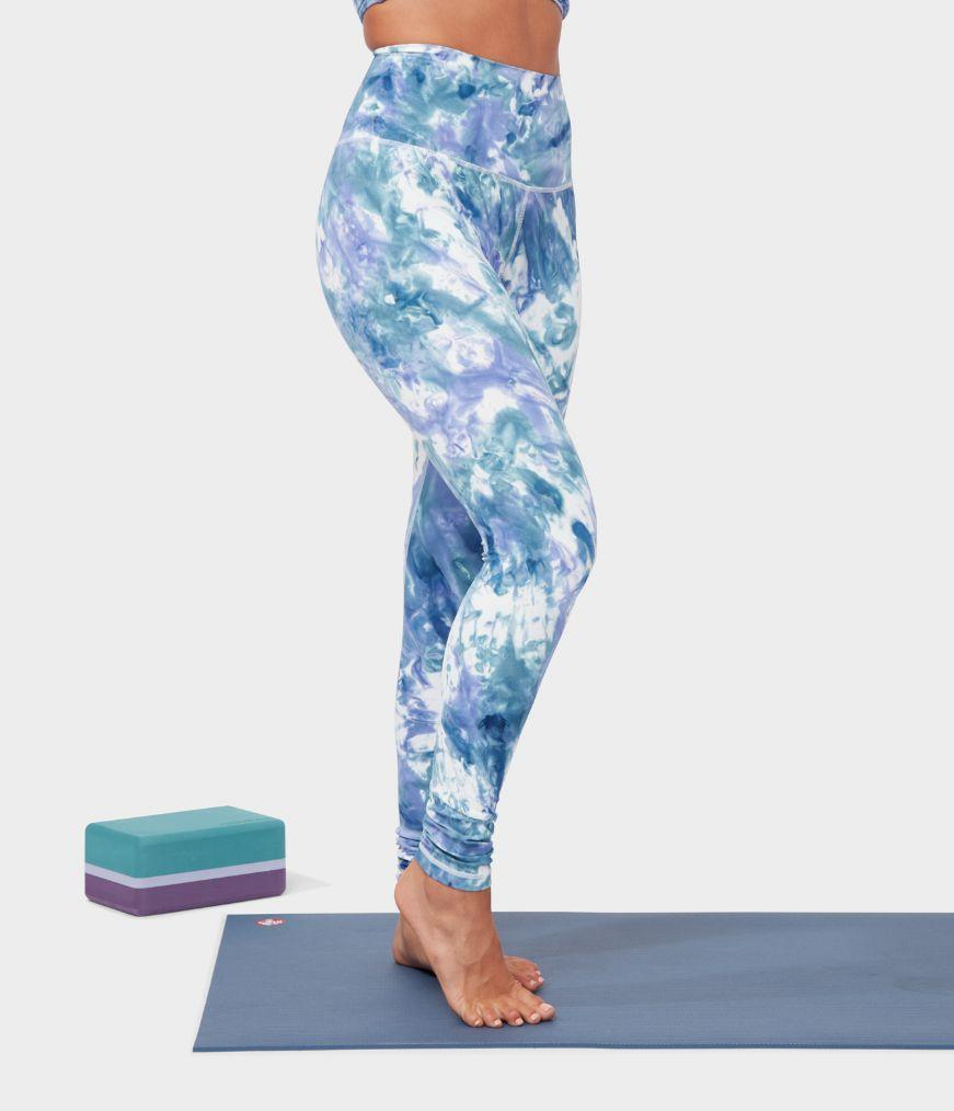 Manduka Apparel - Women's Aurora Legging - Aurora Be Bold Blue