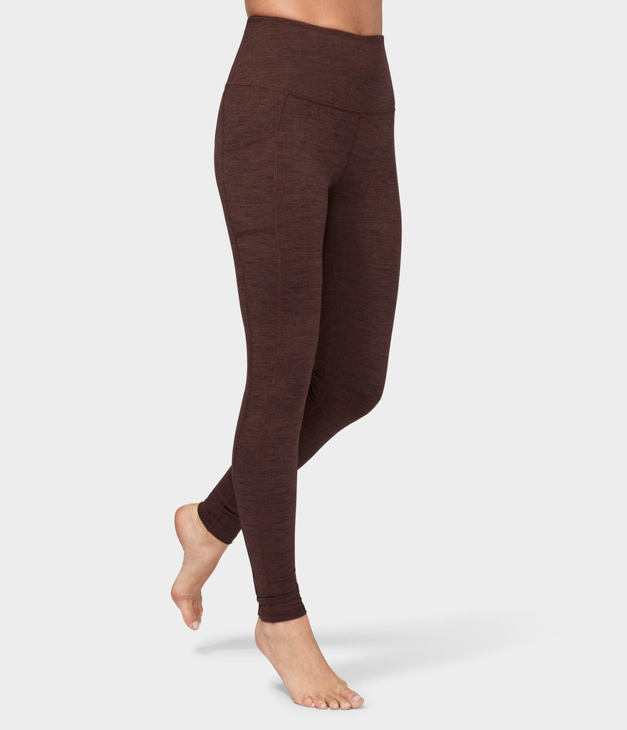 Manduka Apparel - Women's Essential Pocket Legging - Heather Fig