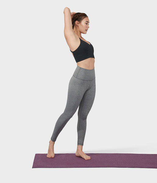 Manduka Apparel - Women's Foundation Legging - Heathered Grey
