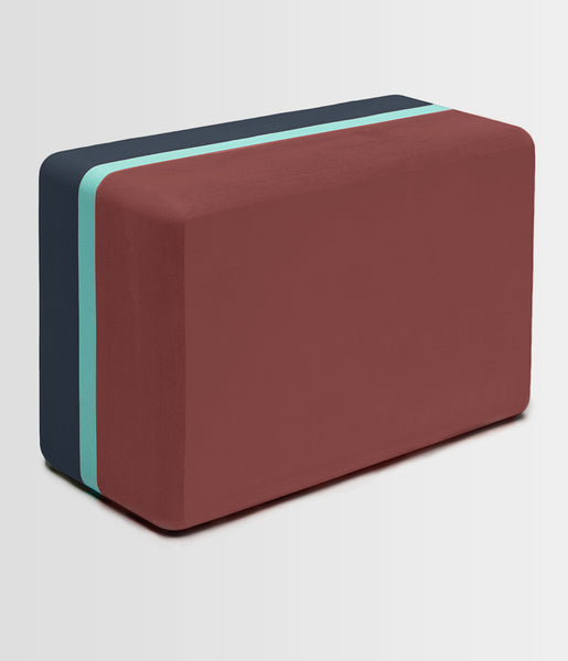 Manduka Recycled Foam Yoga Block (Limited Edition) - Maka 3-Tone