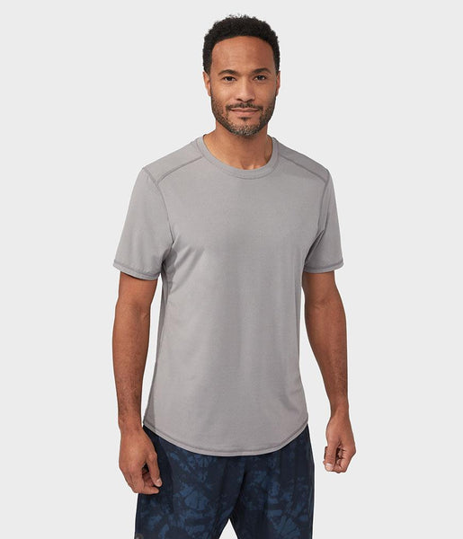 Manduka Apparel - Men's Tech Tee - Silver Filigree
