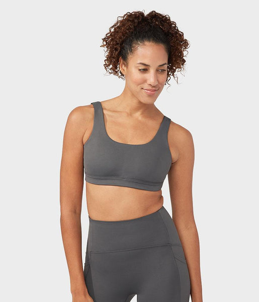 Manduka Apparel - Women's Presence Bra - New Grey