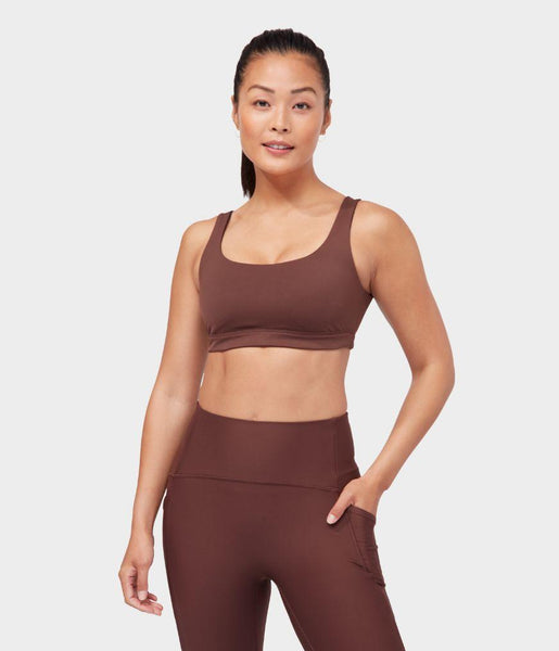Manduka Apparel - Women's Presence Bra - Deeply Rooted Brown