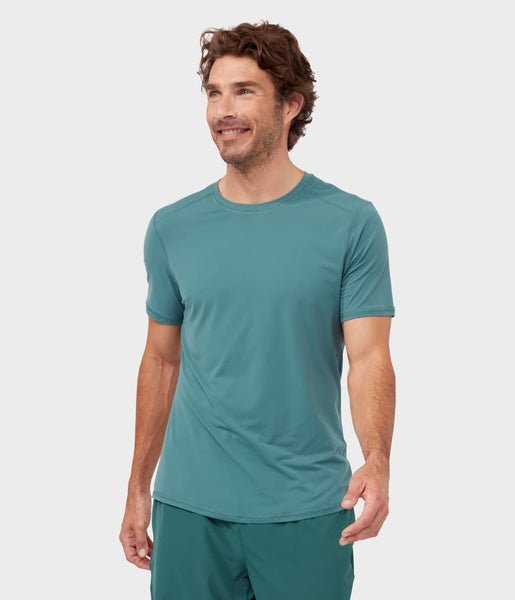 Manduka Apparel - Men's Tech Tee - Deep Surf