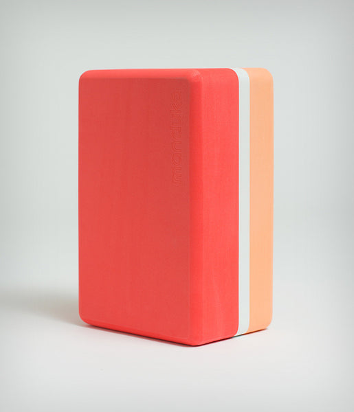 Manduka Recycled Foam Yoga Block (Limited Edition) - Coral 3-tone