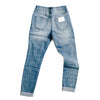 """Ava"" - Adult Distressed Ripped Light Blue Jeans"