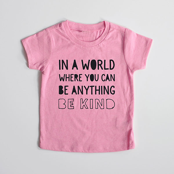 "SALE ""Be Kind"" Pink Child T-Shirt - 12 Month Only"