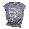 """Be Known for your Kindness & Grace"" Adult Grey Triblend Unisex Crewneck T-Shirt"