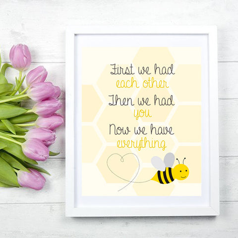 Bumble Bee Child's Bedroom or Nursery Print
