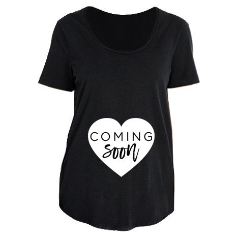"""Coming Soon"" Ladies Maternity T-Shirt - Size XL Only"
