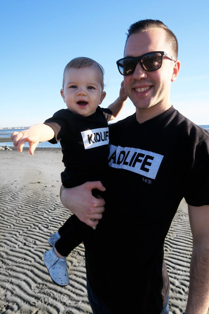 """Dad Life"" Solid Black Mens Tee"
