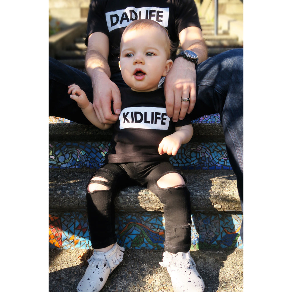 "SALE ""Kidlife"" Dark Heather Charcoal Child Tee"