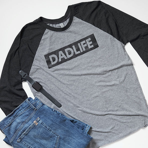 """Dad Life"" Mens Baseball Raglan - Size 2XL Only"