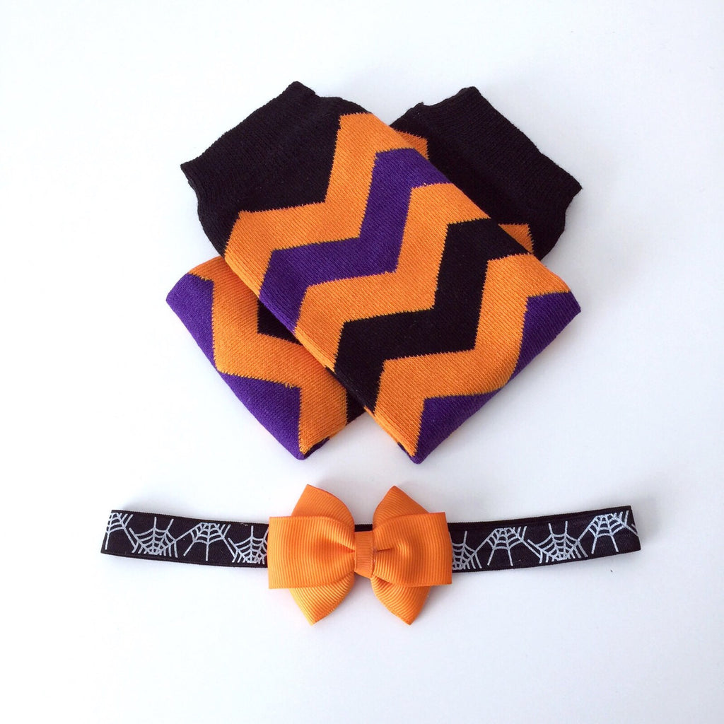 Halloween Leg Warmers & Headband Set