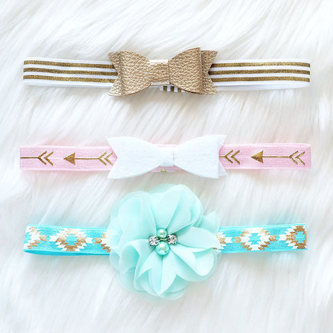 3 PC Combo - Trendy Headbands Mixed