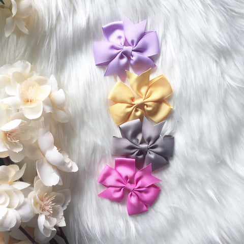 SALE 4 PC Ribbon Bow Clip Combo
