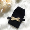 Black Leg Warmer and Gold Bow Headband Set
