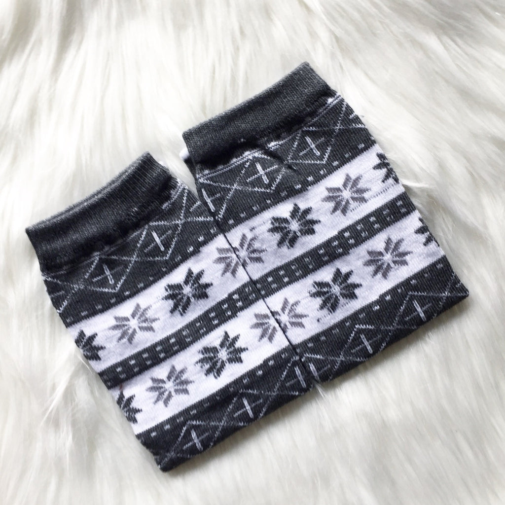 SALE Grey Fairisle Leg Warmers
