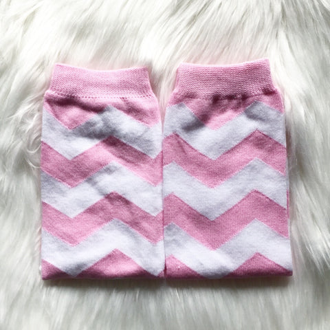 Pink Chevron Leg Warmers