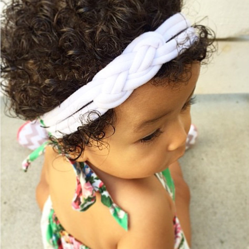 White Sailor Knot Turban Headband