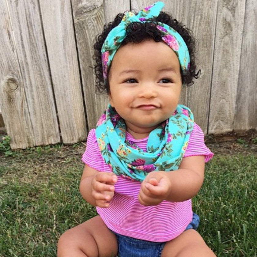 Floral Child Scarf Set