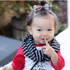 Black and White Stripe Child Scarf
